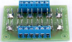 Fuse Board Max 6.3A   6x Mit Bauteile