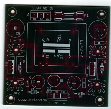 Symmetrisches Netzteil Leiterplatte für EI 42