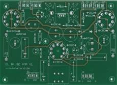 EL 84 SE Stereo Amp - Leiterplatte Ohne Bauteile