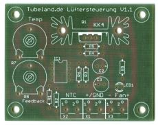 Lüftersteuerung 12V – 24V Leiterplatte