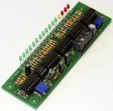 VU Meter 16 LED´s -43dB - + 6dB Log. - Bausatz mit 3 mm LED Rund